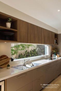 Make It Work: Smart kitchen design solutions for narrow galley kitchens cabinet . - Make It Work: Smart kitchen design solutions for narrow galley kitchens cabinet open cubbies above - Home Decor Kitchen, Interior Design Kitchen, Diy Kitchen, Home Kitchens, Kitchen Ideas, Galley Kitchens, Prep Kitchen, Decorating Kitchen, Modern Kitchens