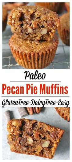 Paleo Pecan Pie Muffins- rich, sweet, and full of buttery pecans. Dairy free, gluten free, easy, and so delicious!