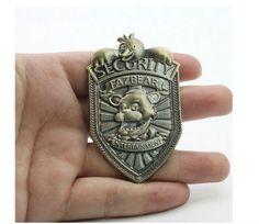 Hot Sale Five Nights At Freddy's Vintage Freddy Security Badge Pin FNAF Cosplay