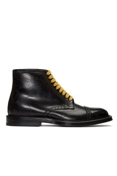 Gucci Black Formal Lace-Up Boots from SSENSE (men, style, fashion, clothing, shopping, recommendations, stylish, menswear, male, streetstyle, inspo, outfit, fall, winter, spring, summer, personal)
