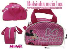 30 Lembrancinhas Bolsinha Personalizada Meia Lua Minnie - R$ 239,99 em Mercado Livre