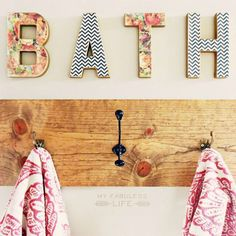 Let My Fabuless Life show you a cheap and easy way to build your own towel rack!