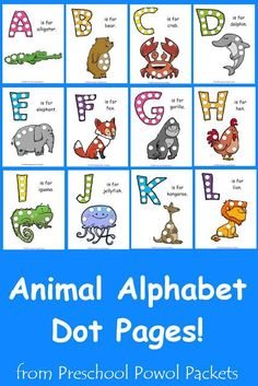 Free A Z Animal Alphabet Dot Pages Collection
