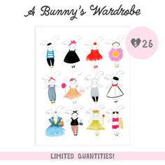 8 x 10 high quality print of A Bunny's Wardrobe. *Limited Quantities** #art #print #bunny