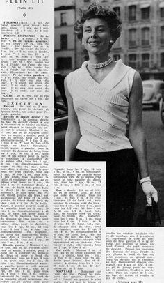 Fifty - sixtie' S Knitting Designs, Knitting Patterns Free, Free Knitting, Crochet Patterns, Crochet Vintage, Vintage Knitting, Knit Fashion, Sweater Fashion, Crochet Slippers