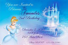 Princess Cinderella Personalized Invitation by SimplyFabChic