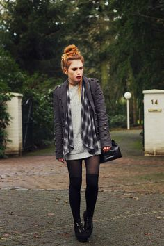 Get this look (shirt, jacket, socks, bootie) http://kalei.do/WYFtUviSpsO1pLpu