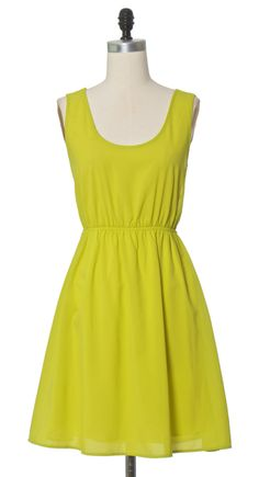 Open Back Lime dress