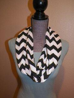 Chevron Infinity Scarf  Black and White by ItsPeachyKeen on Etsy, $17.00