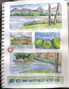 from my sketchbook ~ santee lakes by janelafazio, via Flickr
