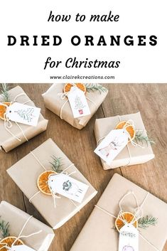 How to make dried oranges for Christmas decorating or present wrapping - eco-friendly, biodegradable Christmas gifts and wrapping on brown paper. Christmas Gift Wrapping, Best Christmas Gifts, Winter Christmas, Xmas Gifts, Holiday Fun, Christmas Holidays, Christmas Crafts, Christmas Nails, Christmas Oranges