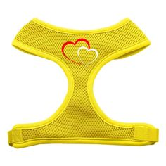 Mirage Pet Products Double Heart Design Soft Mesh Dog Harnesses, X-Large, Yellow * You can find out more details at the link of the image. (This is an affiliate link and I receive a commission for the sales)