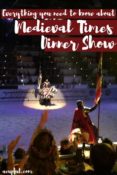 Everything you need to know about the Medieval Times dinner show in Orlando Florida   ------  acupful.com   tips for medieval times   visit orlando   family travel florida   family attractions in orlando   Medieval Times menu   #MTfan   things to do in Orlando with kids
