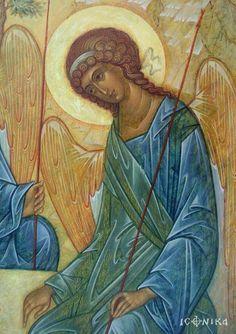 畫布上 Byzantine Icons, Byzantine Art, Religious Icons, Religious Art, Order Of Angels, Trinidad, Religious Paintings, Christian Religions, Archangel Michael