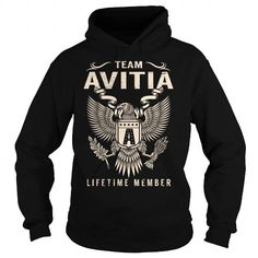Awesome Tee Team AVITIA Lifetime Member - Last Name, Surname T-Shirt T shirts