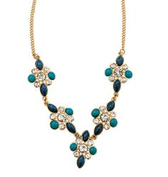 Avon: Floral Embellished Statement Collection Necklace
