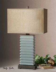 Uttermost Lupara Crackled Blue Lamp