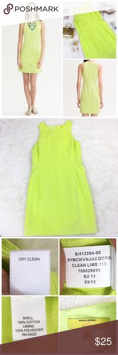 77336e7402e8c Banana Republic x Milly Jacquard Shift Dress Lime Banana Republic x Milly  collaboration - sleeveless shift