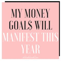 Money Affirmations to Attract Financial Abundance. My money goals will manifest this year. Wealth Affirmations, Law Of Attraction Affirmations, Law Of Attraction Quotes, Healing Affirmations, Millionaire Lifestyle, Mantra, Woman Quotes, Quotes Quotes, Life Quotes