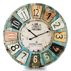 Vintage French Soul ~ Very Large Wall Clock 75cm. SIZE Does Matter. | Vita  | Pinterest | Wall Clocks, Clocks And Walls