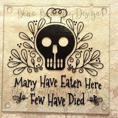 Wedding Gifts Glass Cutting Board Sugar Skull Goth by ShoeBoxSnapShots on Etsy - Custom Cutting Boards, Diy Cutting Board, Glass Cutting Board, Dark Style, Goth Home, Idee Diy, Gothic House, Victorian Gothic Decor, My New Room