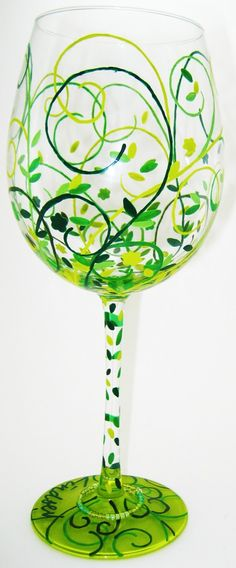 Hand Painted Glassware - Nature via Etsy