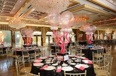 Candy Theme Bat Mitzvah Centerpieces, Photo Cubes & Balloons by Balloon Artistry - mazelmoments.com