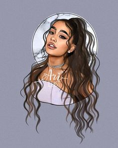 Ooohh ari ur so pritty Ariana Grande Anime, Ariana Grande Album, Ariana Grande Background, Ariana Grande Drawings, Ariana Grande Wallpaper, Ariana Grande Pictures, Instagram Cartoon, Black Art Pictures, Cute Girl Drawing