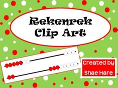 Rekenrek Clip Art --  Build mental math skills and help students subitize numbers 0-20. All combinations of 0-20 possible on rekenrek included...