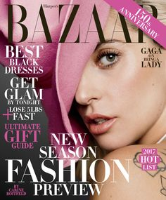 Lady Gaga by Inez & Vinoodh for Harper's BAZAAR US December/January 2017 cover