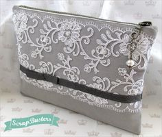 ScrapBusters: Lace Overlay Clutch | Sew4Home