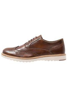 Chaussures à lacets cognac