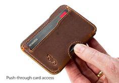 The Slim Wallet Chestnut Mens Wallet Card Wallet Mens