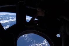 There's no place like home. Peering out of the windows of the International Space Station, astronaut Tracy Caldwell Dyson takes in the planet on which we were all born, and to which she would soon return. About 350 km up, the ISS is high enough so that the Earth's horizon appears curved. [3600x2395]