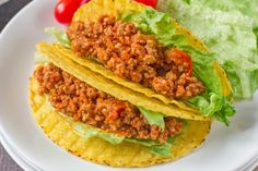 This quick and easy taco recipe features ground pork, tomatoes and chili powder. Find more taco recipes and dinner ideas from Genius Kitchen. Ground Pork Sausage Recipes, Pork Recipes, Mexican Food Recipes, Dinner Recipes, Cooking Recipes, Healthy Recipes, Dinner Ideas, Mexican Dishes, What's Cooking