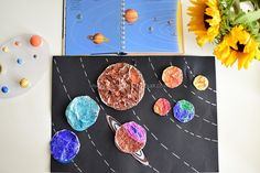 Space And Astronomy Learning the planets in the solar system Solar System Projects For Kids, Solar System Crafts, Space Activities For Kids, Science For Kids, Science Activities, Space And Astronomy, Space Planets, Montessori Science, Preschool