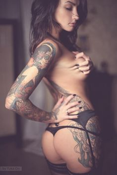 Beauty and tattooed