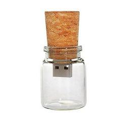 8 GB Glass Bottle with Cork USB Flash Pen Drive (Transparent) - EUR € 3.91