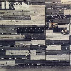 Wow! Our #uonuon wood look tile is looking pretty incredible on the walls at #ikonespresso. Thanks for the pic @grandgesture  by myareeceramics