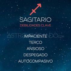 DEBILIDADES CLAVE DE LOS SIGNOS: SAGITARIO