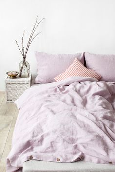 pink lavender duvet cover by  bedding