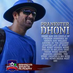 Prankster Dhoni.  Like, Share and comment if you find it interesting. #Ramagya #RamagyaSportsAcademy #learn #train #play #coach #sports