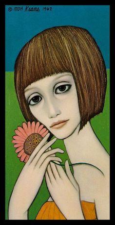 """""""Daisy"""" ~ Margaret Keane, 1962"""