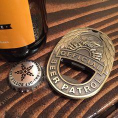 Beer Patrol Badge Bottle Opener