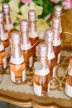 Mini rose favors: http://www.stylemepretty.com/living/2016/05/09/the-prettiest-way-to-give-back-this-floral-and-bubbly-party/ | Photography: Jodee Debes