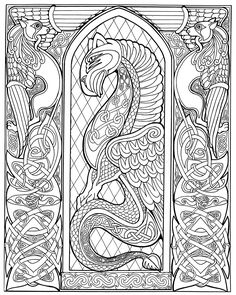 Free coloring pages of celtic animal