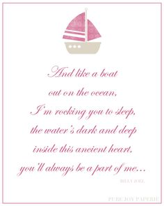 67 best music makes me feel alive images on pinterest lyrics pink nursery print billy joel lullabye by purejoypaperie on etsy 1300 stopboris Image collections