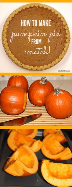 Learn to make Pumpkin Pie from Scratch! It's the most AMAZING pumpkin pie you'll ever taste! Homemade Pumpkin Puree for Scratch Pumpkin Pie. A few years ago, I was part of a fresh produce co-op. The week before Thanksgiving, my delivery included a c Homemade Pumpkin Puree, Pumpkin Pie Recipes, Fall Recipes, Holiday Recipes, Pumpkin Pie From Pumpkins, How To Puree Pumpkin, Sugar Pumpkin Pie Recipe, Summer Recipes, Paleo Pumpkin Pie