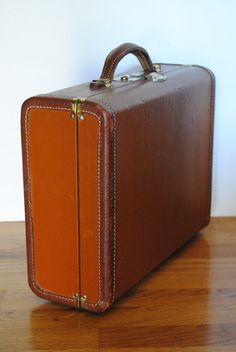 Adorable 1930's Leather Suitcase by hunterdear on Etsy, $38.00