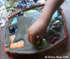 Homemade stepping stone